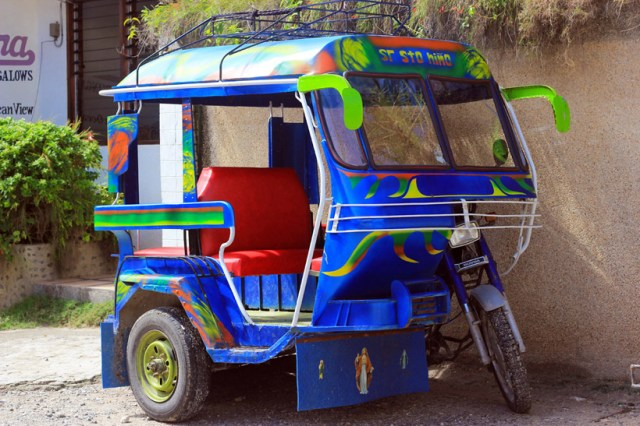 A tricycle, the Philippines