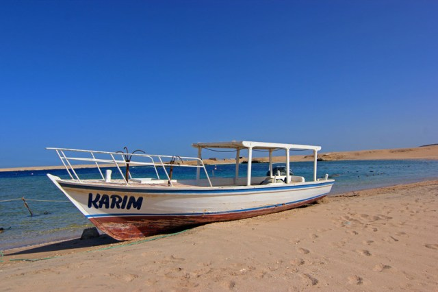 A beached boat in Egypt