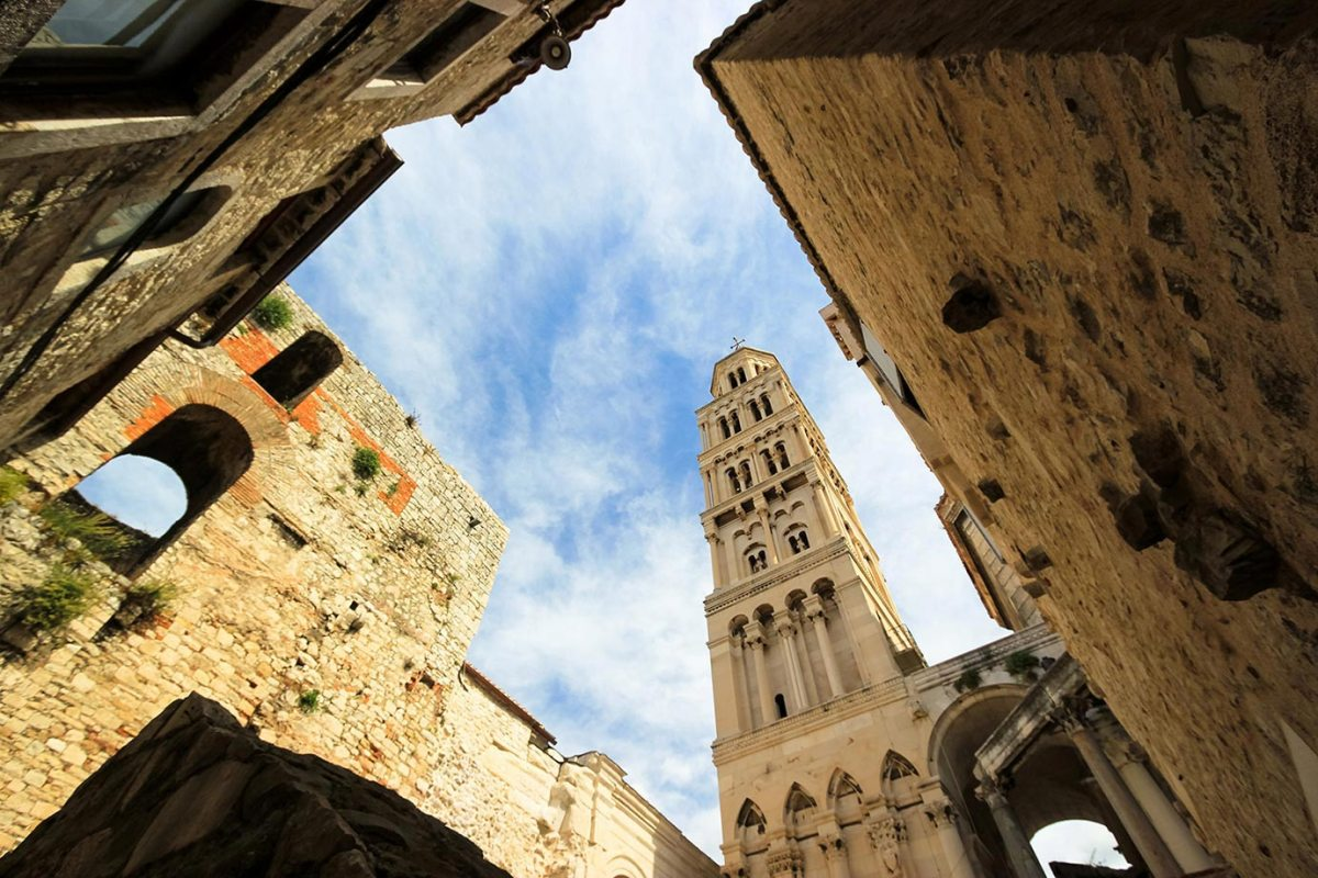 The view of Diocletian's Palace in Split, Croatia