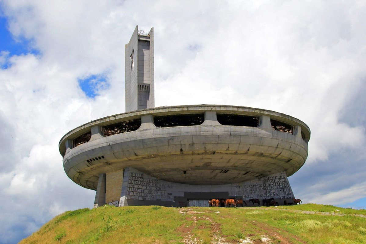 The famous former communist headquarters of Buzludzha in Bulgaria
