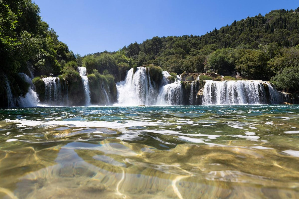 The famous waterfalls at Krka National Park, Croatia