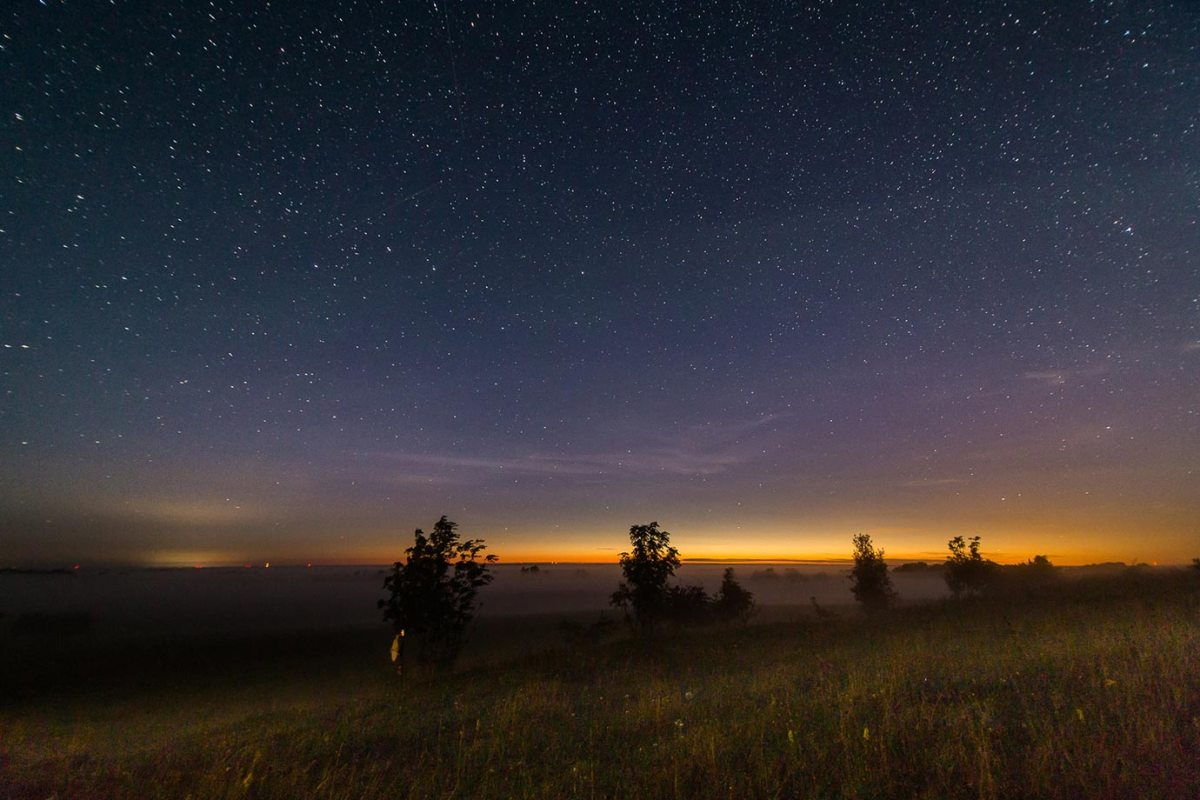 The nightsky while camping in the middle of nowhere in Estonia