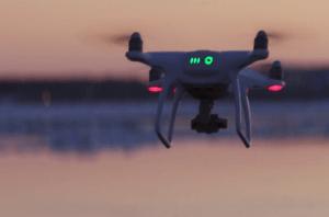 the dji phantom 4 drone capturing a sunset 1