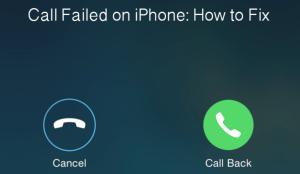 call failed error solution 1
