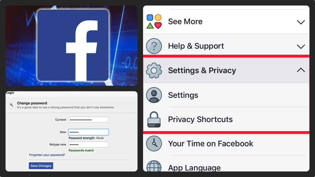 Changing your Facebook Password