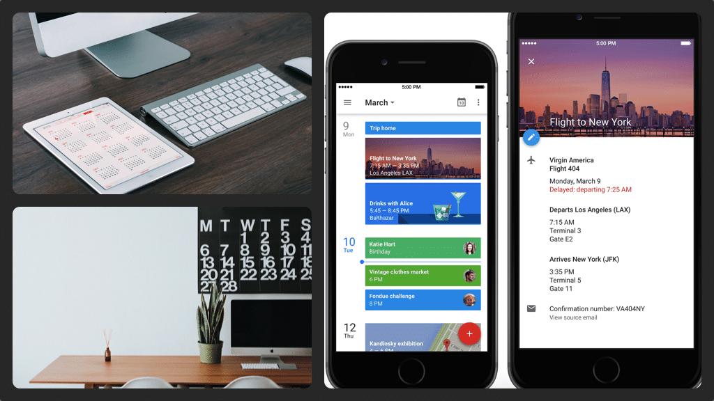 Google Calendar iPhone collage 1