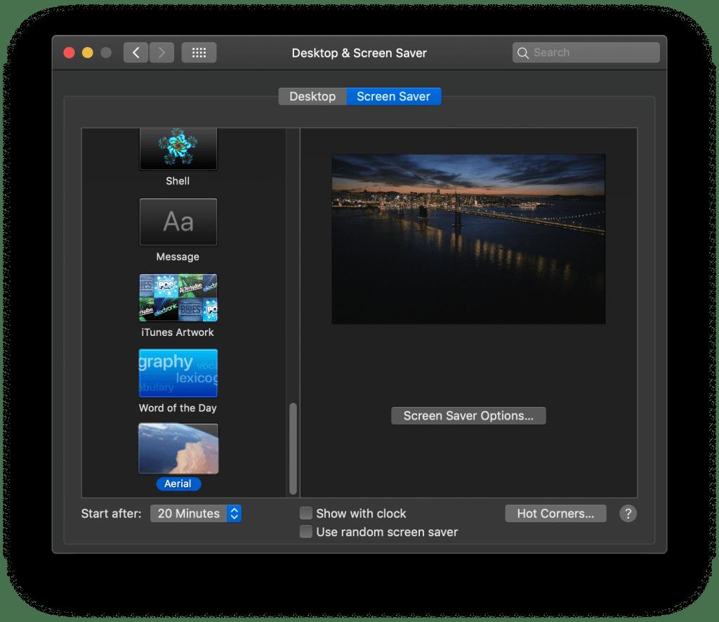 Screensaver Setup