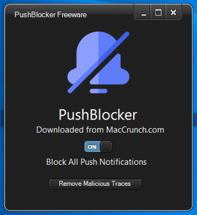 PushBlocker Disables Push Notification