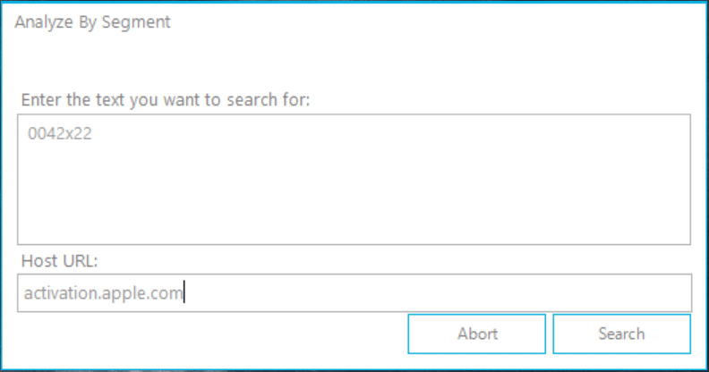 Analyze by segment Window 1