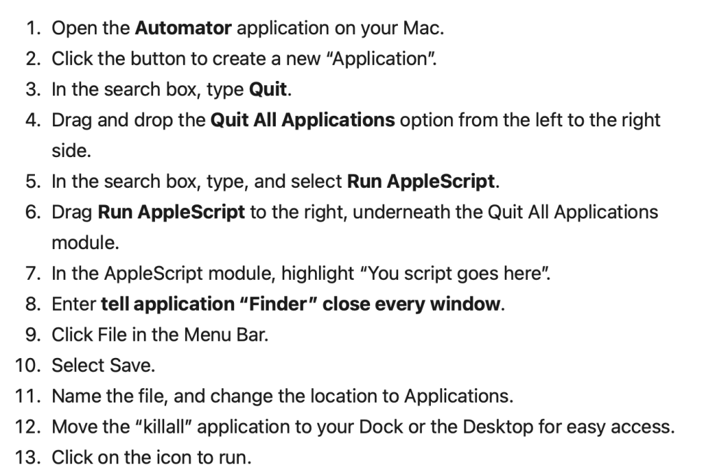 how to quit all your Mac apps at the same time