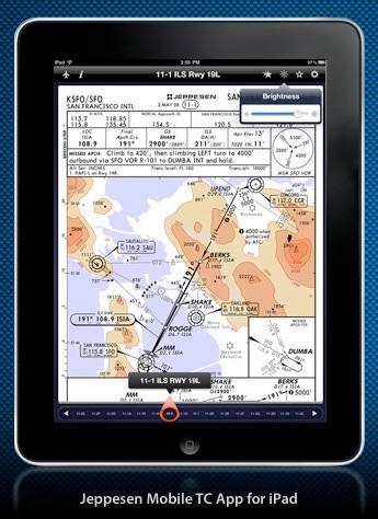 Jeppesen aviation app for iPad