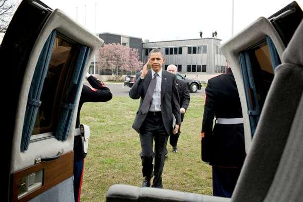 Obama and his Apple iPad, April 6, 2011