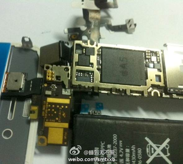 Partially Assembled iPhone 4S/5 Components with A5 Chip