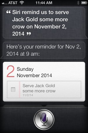 Siri, remind us to serve Jack Gold more core on November 2, 2014