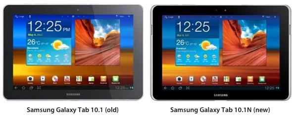 Samsung Galaxy Tab 10.1 vs. 10.1N iPad wannabe