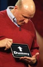 Steve Ballmer dummy pretend iPad