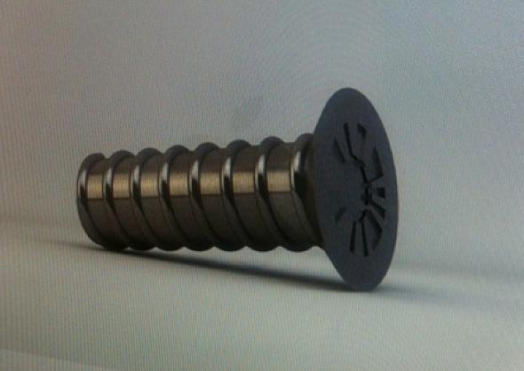 Apple assymetric screw