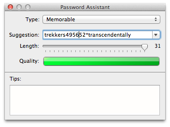 OS X Password Assistant