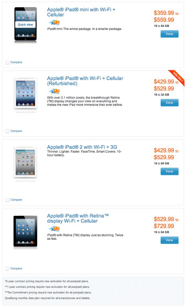 AT&T $100 off iPad and iPad mini