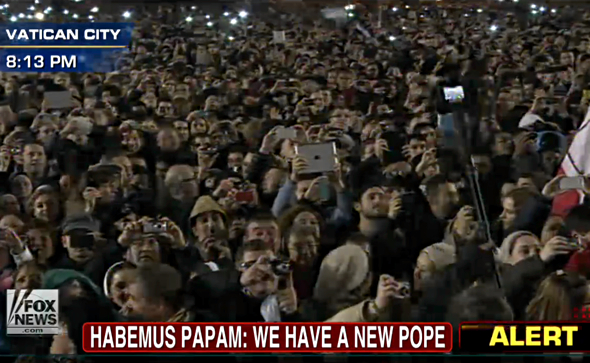 Apple iPhones and iPad greet Pope Francis