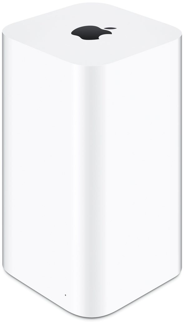 Apple's redesigned AirPort Extreme and AirPort Time Capsule base stations feature 802.11ac Wi-Fi for up to three times faster performance