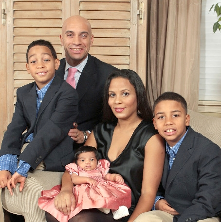 Adrian Fenty, soon-to-be ex-wife Michelle, and family