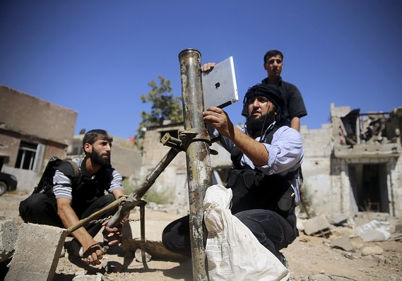 Syrian rebels, who've improvised their own tanks in the past, have found a new way to use Apple iPads.