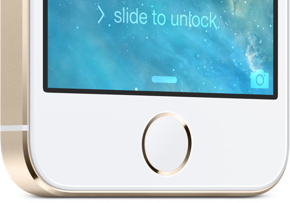 iPhone 5s' ID fingerprint identity sensor