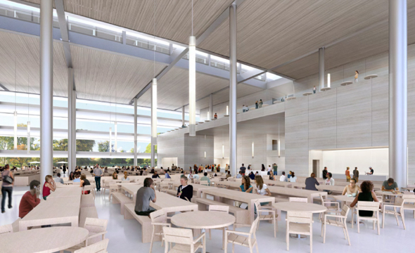 Apple Campus 2 cafeteria. Image: City of Cupertino