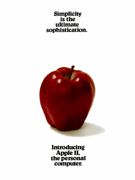 Apple: Simplicity is the ultimate sophistication