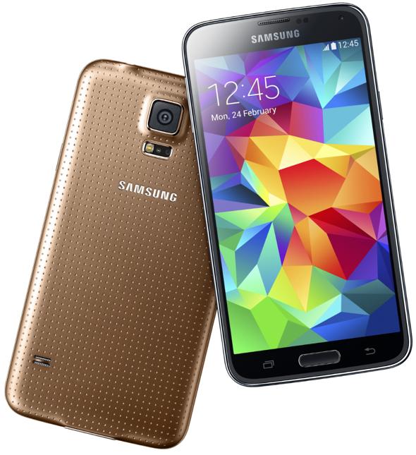 "Samsung's 32-bit plastic ""flagship"" Galaxy S5 phone"