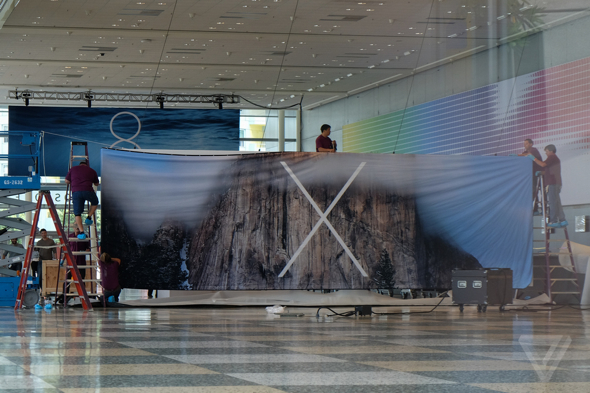 Apple's WWDC 2014 banner for OS X