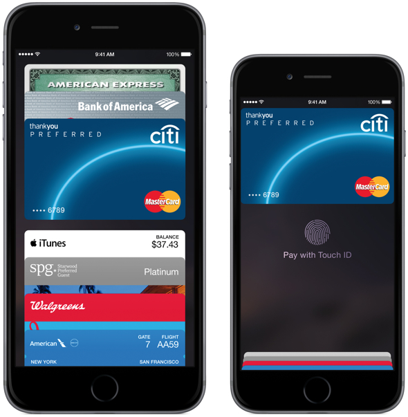 Apple Pay on Apple's iPhone 6 Plus and iPhone 6
