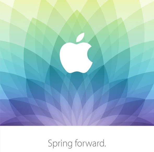 Apple's special media event invitation graphic