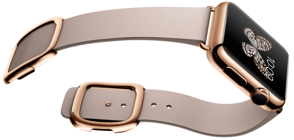 Apple Watch Edition in 38mm 18-Karat Rose Gold Case with Rose Gray Modern Buckle
