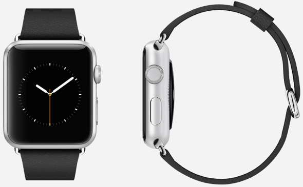 42mm Apple Watch Sport (30g) with Black Classic Buckle (19g): 59g