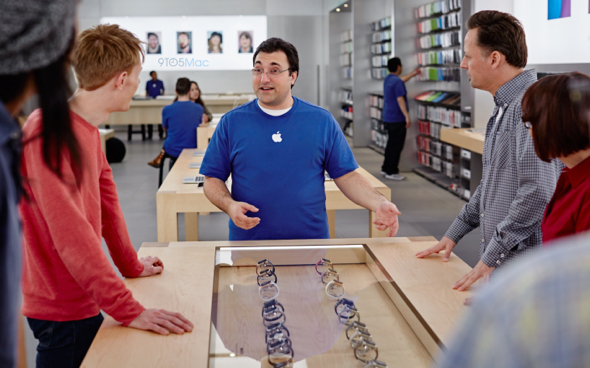 Apple Retail Store employees sell Apple Watch