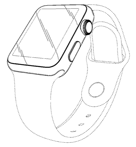 U.S. Patent #:US0D0728624 for ornamental design of an electronic device (Apple Watch)
