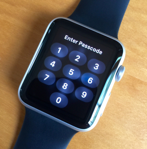 Apple Watch's Passcode screen