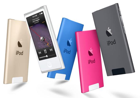 Apple's iPod nano in ew colors