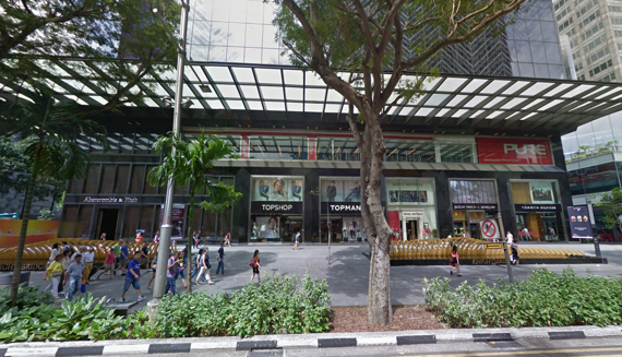 Knightsbridge Mall, 270 Orchard Road, Singapore (photo via Google Maps)