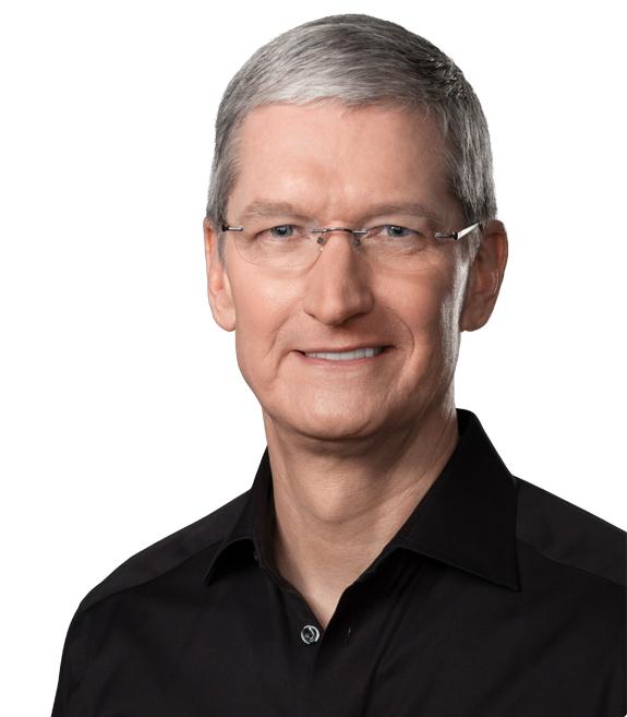 Apple social justice initiative. Image: CEO Tim Cook
