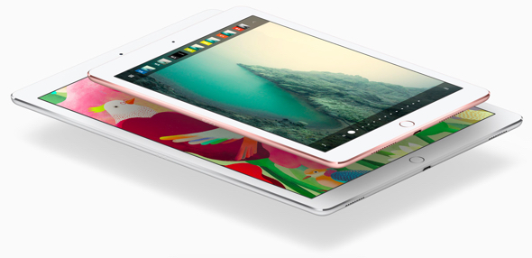 Apple's new 9.7-inch iPad Pro atop the 12.9-inch iPad Pro