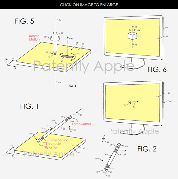 Apple patent application reveals Apple Pencil to work with Mac via in-air gestures, on trackpad, and a joystick for games