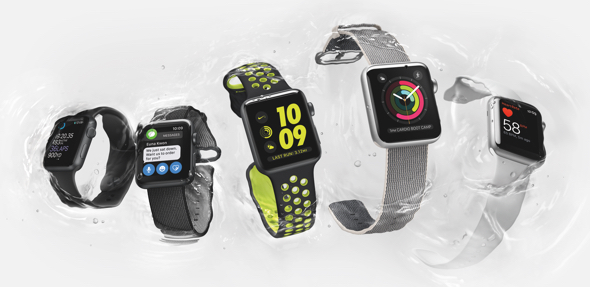 Apple Watch Series 2 with built-in GPS and water resistance to 50 meters