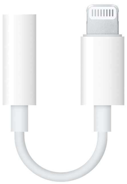 Apple's Lightning to 3.5 mm Headphone Jack Adapter (US$9.00)