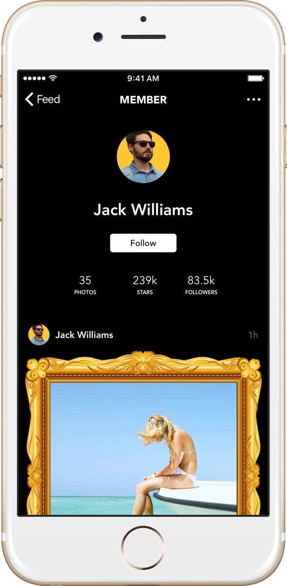Rich Kids app on Apple iPhone