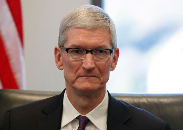 Apple CEO Tim Cook at U.S. President-elect Donald Trump's tech roundtable last week