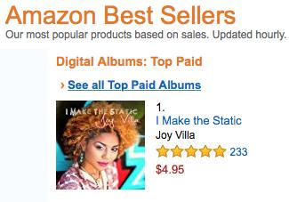 Joy Villa tops Amazon Music