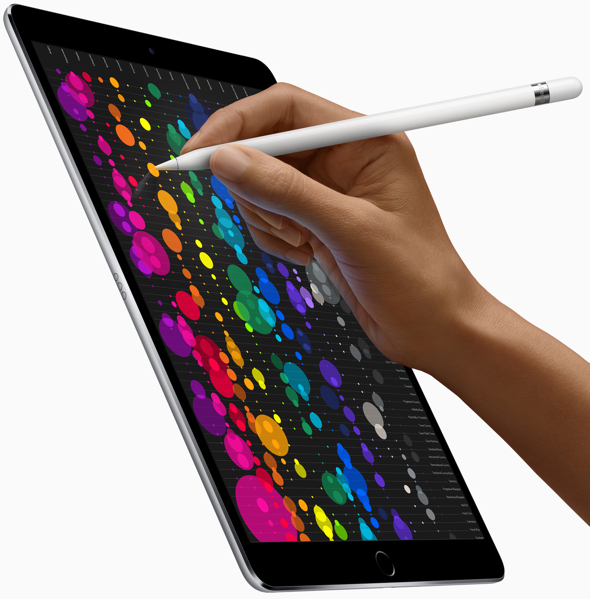 iPad Pro, in 10.5-inch and 12.9-inch models, introduces the world's most advanced display and breakthrough performance